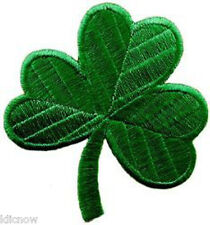 "Shamrock (Three leaf Clover) Embroidered Patch 6.5CM X 7CM (2 1/3"" X 2 3/4"")"