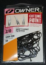 Owner 5304-128 60° Deep Throat Wide Gap Jig Hooks - Size 2/0 Pro Pack of 59