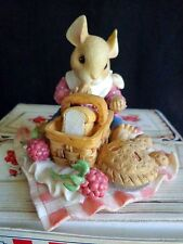 Mouse Tales Raspberry Pie Figurine Recipes for Spring 295833 Enesco 1997 Tails