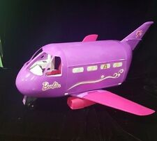 Vintage 1999 Mattel Barbie Doll Jumbo Jet Glam Airplane Pink Purple Plane