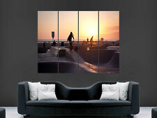 SKATE PARK SKATEBOARDING  SUNSET LA BEACH USA ART HUGE GIANT POSTER PRINT