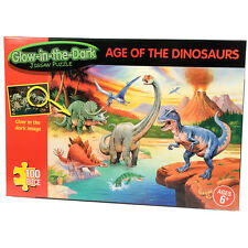 Glow In The Dark Age Of The Dinosaurs 100 Piece Jigsaw Puzzle