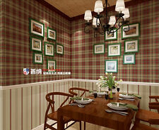 UK tartan wallpaper vintage country pure paper wallpapers Mural Rolls 10M