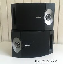 BOSE 201 SERIES V BOOKSHELF/SURROUND SPEAKERS W/WALL HANGERS