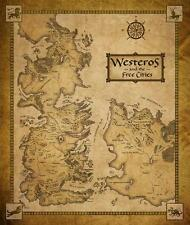 Game of Thrones Map Westeros and the Free Cities map Poster 20x24