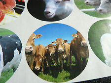 12 Farm Stickers, Animal Self-Adhesive Labels FARM51
