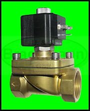 """Magnetventil SVS 1"""" Messing 230V 50Hz 0-14bar NC Heizung Wasser Luft"""