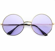 John Lennon Purple Lens Sunglasses Round Hippie Shades Retro Party Glasses