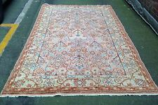 Antique  Hand Woven Turkish Ushak Carpet With All Over Design