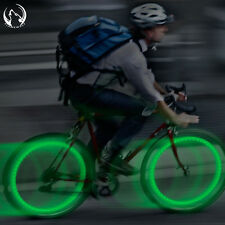 2 X Green Bike Bicycle Cycling Wheel Spoke Wire Tyre Bright LED Flash Light