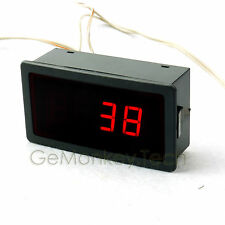 Red LED -199℃/600℃ Digital Thermometer Temperature 5VDC Correction PT100