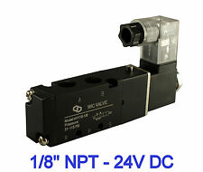 1/8 Inch Pneumatic 4 Way Directional Control Air Cylinder Solenoid Valve 24V DC