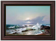 EUGENE GARIN Original Transparent Wave Painting Large Oil On Canvas Signed Art