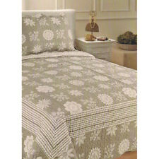 2pc Set Single/King Single Patchwork Pattern Bedspread Quilted Throw Coverlet