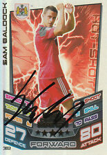 BRISTOL CITY HAND SIGNED SAM BALDOCK 12/13 MATCH ATTAX CARD MOTM.