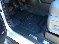 Front Row Floor Mats in Black for 2015 - 2016 Chevrolet Tahoe