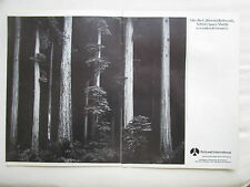 10/1986 PUB ROCKWELL CALIFORNIA REDWOODS ANSEL ADAMS PHOTOGRAPH ORIGINAL AD