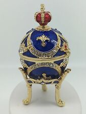 Gold Plated Fabrerge Egg Jewellery Ornament