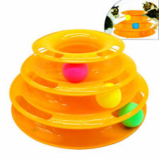 Interactive Tower of Tracks Cat Toy Amusement Plate Trilaminar Cat Kitten Toys