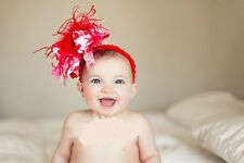 hot SELL Baby Feather Pad headband Bow flower hair band FASCINATOR Accessorie n1