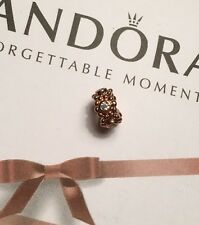 Authentic Pandora Rose Gold Plated Her Majesty Spacer CZ Charm Bead 781122CZ
