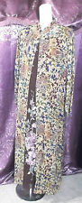 2 Pc. Long Deep Plum Slvless Dress w/ Long Floral Coat Evening Bridal sz XL