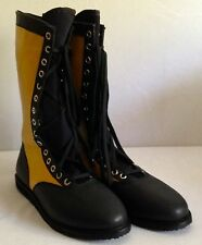 GOLD & BLACK Pro Wrestling Boots Size 13 Adult NEW Lucha Libre Gear wwe outfit