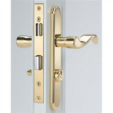 Storm Door Mortise Handle Bright Brass Finish for 1-1/8 Inch to 2 Inch Thick