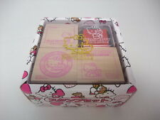 Sanrio Hello Kitty 40th Anniversary wooden stamp set JAPAN Brand-new 2014