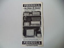 advertising Pubblicità 1965 PHONOLA RADIO/TELEVISORE MASCOTTE