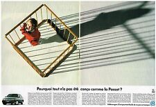 Publicité Advertising 1990 (2 pages) VW Volkswagen Camionnette Passat