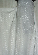 "White Embroidered Eyelet Sheer Polyester  and Cotton 50"" Wide  By the yard"