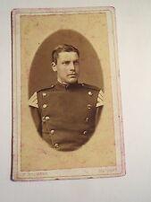 Stuttgart - Soldat in Uniform mit Schwalbennester - Portrait - wohl IR 125 / CDV