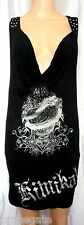 KIMIKAL *POISON LOVE* SHEATH DRESS: Black /Silver Foil/Crystals/Studs/Chains, S