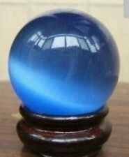 Collectibles Rocks Minerals Natural Blue Opal Sphere ball with stand dia.: 40mm