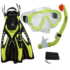 Junior Child Kids Snorkeling Purge Mask Snorkel Fin Set