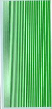 Decalbogen Streifen grün schmal (S-21)