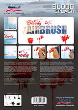 HARDER & STEENBECK AIRBRUSH STENCILS - BLOOD SPLASH