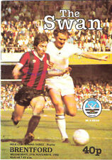 Swansea City v Brentford 17 Nov 1982  FOOTBALL PROGRAMME League (Milk) Cup