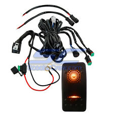 Orange On Off LED Light Bar Switch 15FT Long Harness Truck Chevy GMC Sema Pickup
