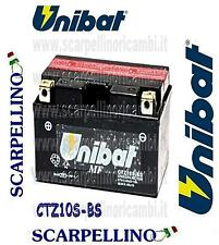 BATTERIA UNIBAT CTZ10S-BS PER KYMCO PEOPLE S L 200 cc DAL 2007 -BATTERY- TTZ10S