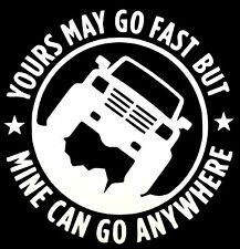 4 YOURS MAY GO FAST STICKER DECAL OFFROAD 4WD TRUCK 4X4 TOYOTA FORD DODGE CHEVY