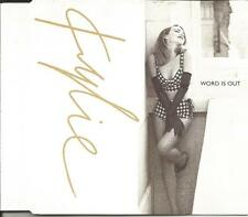 KYLIE MINOGUE Word is out 7 & 12 INCH MIXES & UNRELEASED CD single SEALED 1991