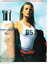 PUBLICITE ADVERTISING 065  1997  RALPH LAUREN eau de toilette femme POLO SPORT