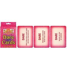24 Hen Party Dare Cards Pink Accessories Novelty Girls Hens Nigth Out Fun Game