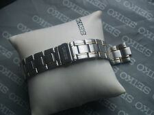 SEIKO 8mm STAINLESS STEEL WITH GILT INLAY LOCKING CLASP WATCH STRAP 30Q9-B.I