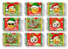 Emoji Christmas Mini Candy Bar Wrappers - Party Favors - Set of 84