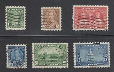 CANADA #211-216 Used 1935 Elizabeth York George Mary Windsor Yacht SCV $13.35