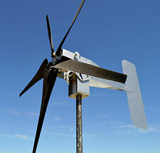 ZINC Typhoon Up Tilting Unibody Yaw Wind Turbine Generator 5KT 12 Volt AC USED