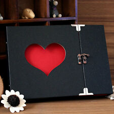 Hollowed Heart Love Shape Photo Image Album Scrapbook Sticker Craft Memory